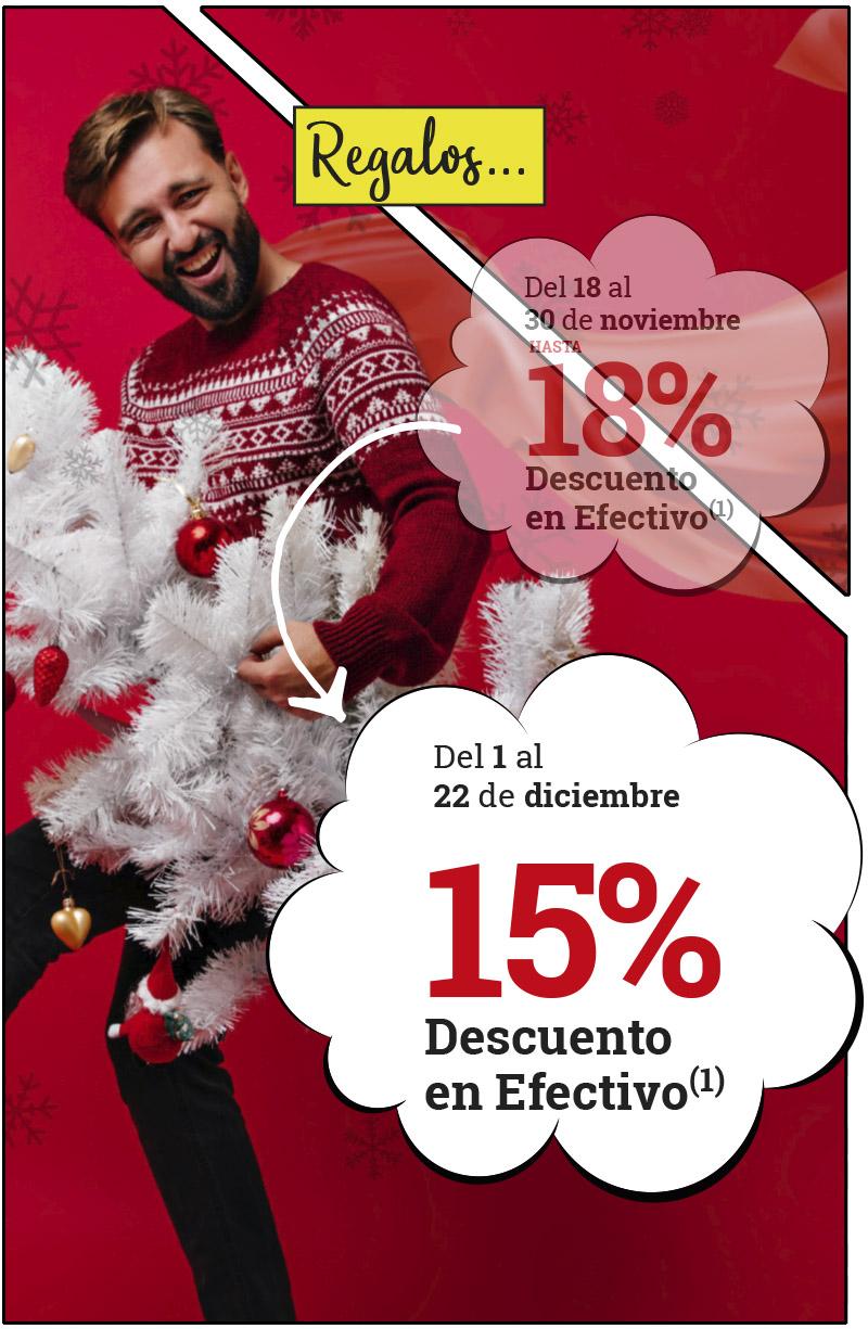 ¡Un 15% en REGALOS!