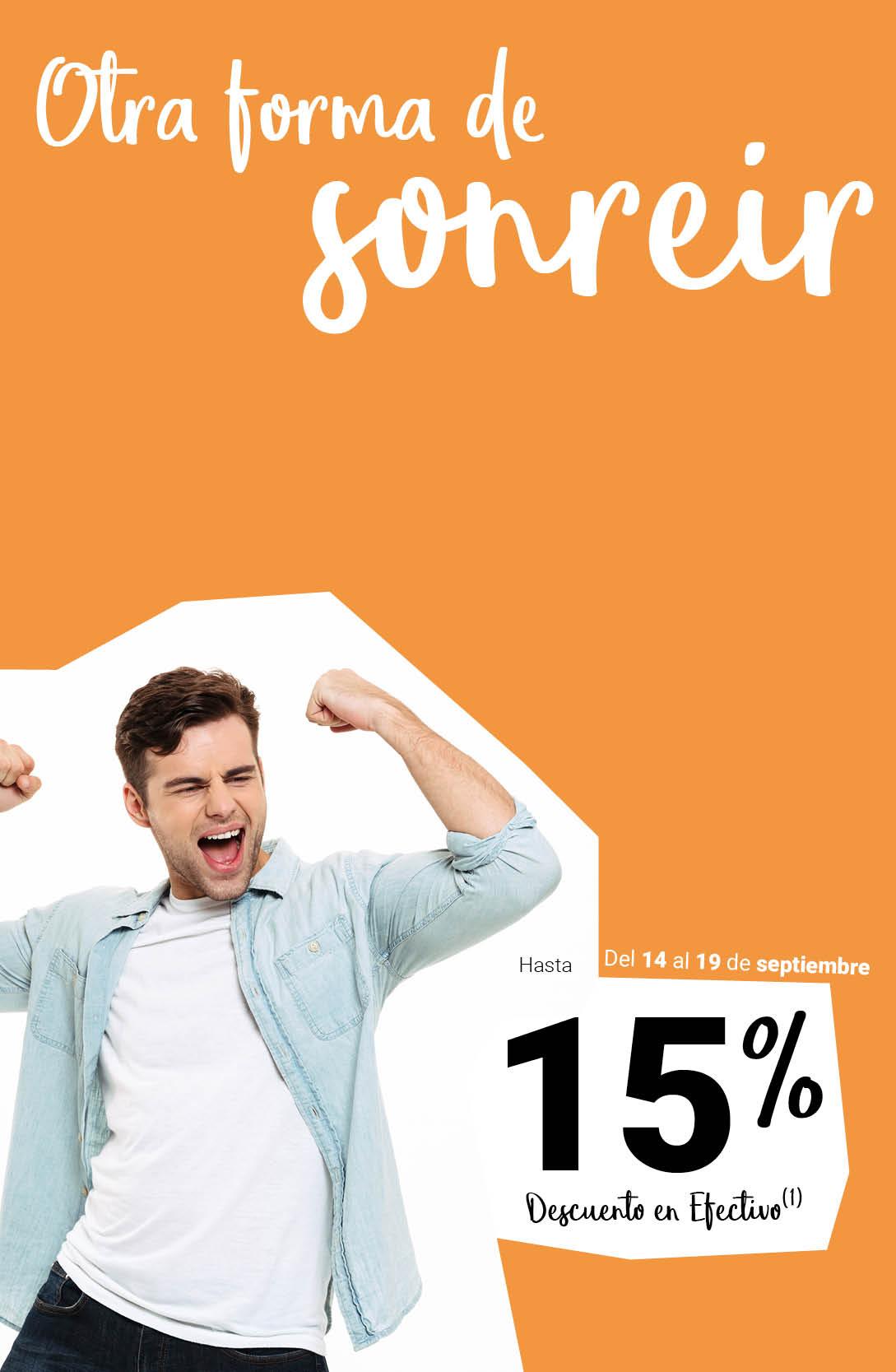 Sonríe con un 12%
