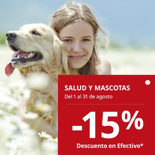 ¡Guau! Un 15% en Salud y Mascotas
