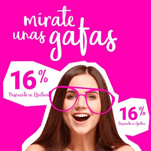 ¡Un 16% en ÓPTICAS asociadas!