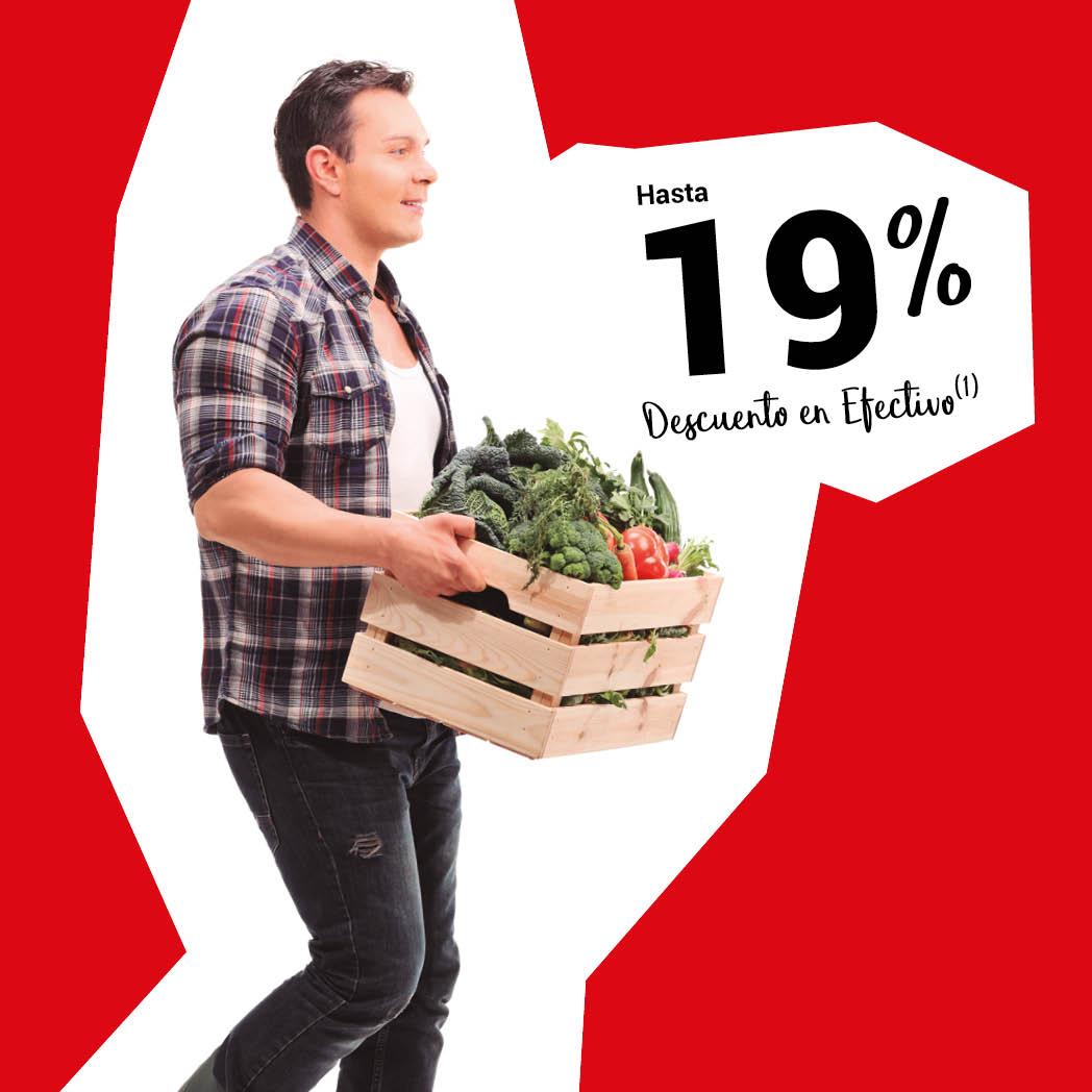 ¡Ahorra un 19% en alimentación!