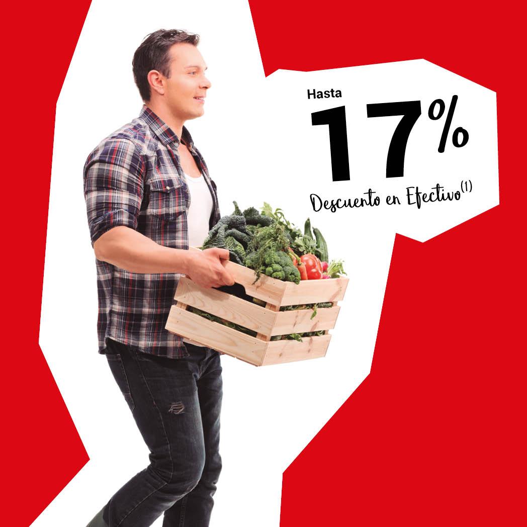 Ahorra con hasta un 17% en Alimentación
