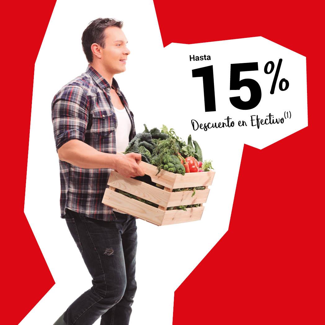 Ahorra con hasta un 15% en Alimentación