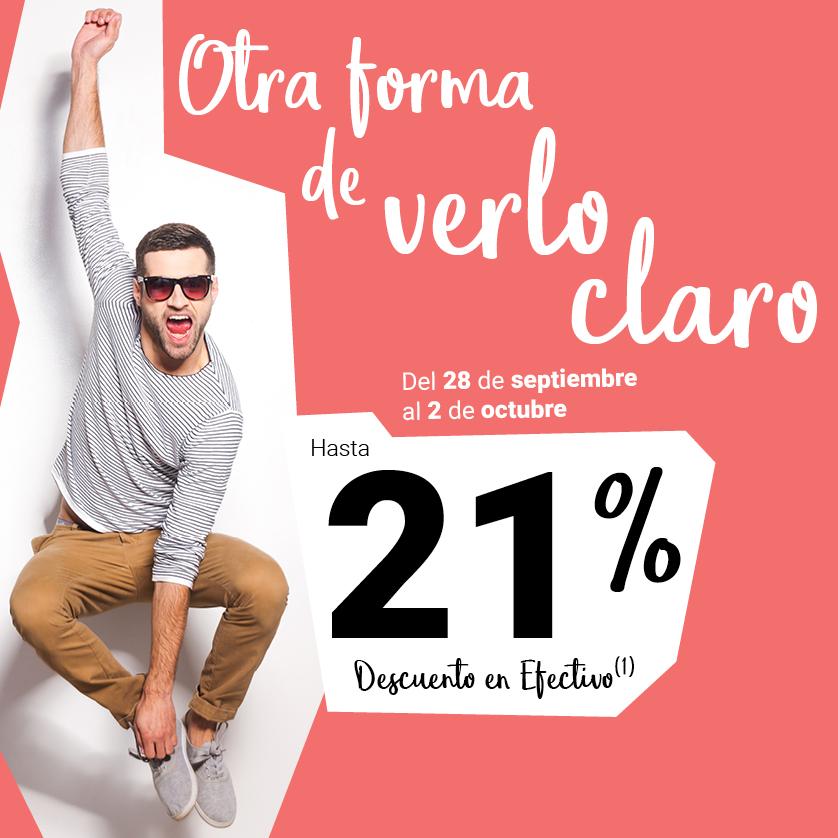 ¡Alégrate la vista con hasta un 21%!