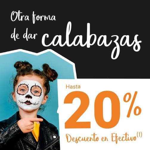 Disfruta este Halloween con un 20%