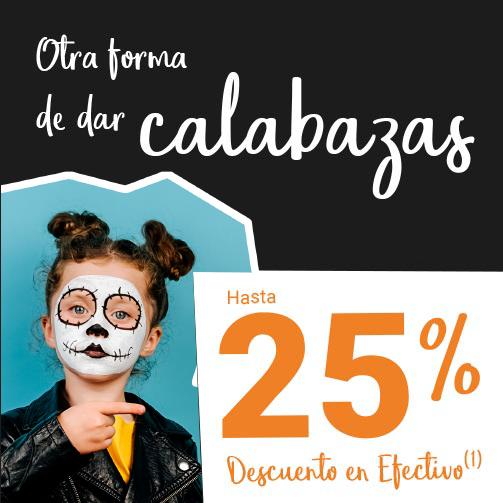 Disfruta este Halloween con un 25%