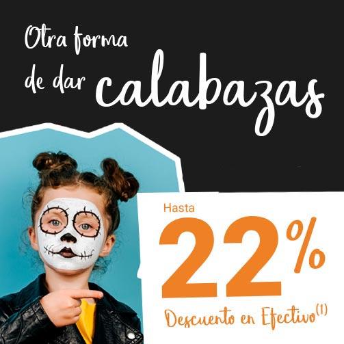 Disfruta este Halloween con hasta un 22%
