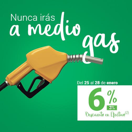 Echa gasolina ¡con un Descuentazo!